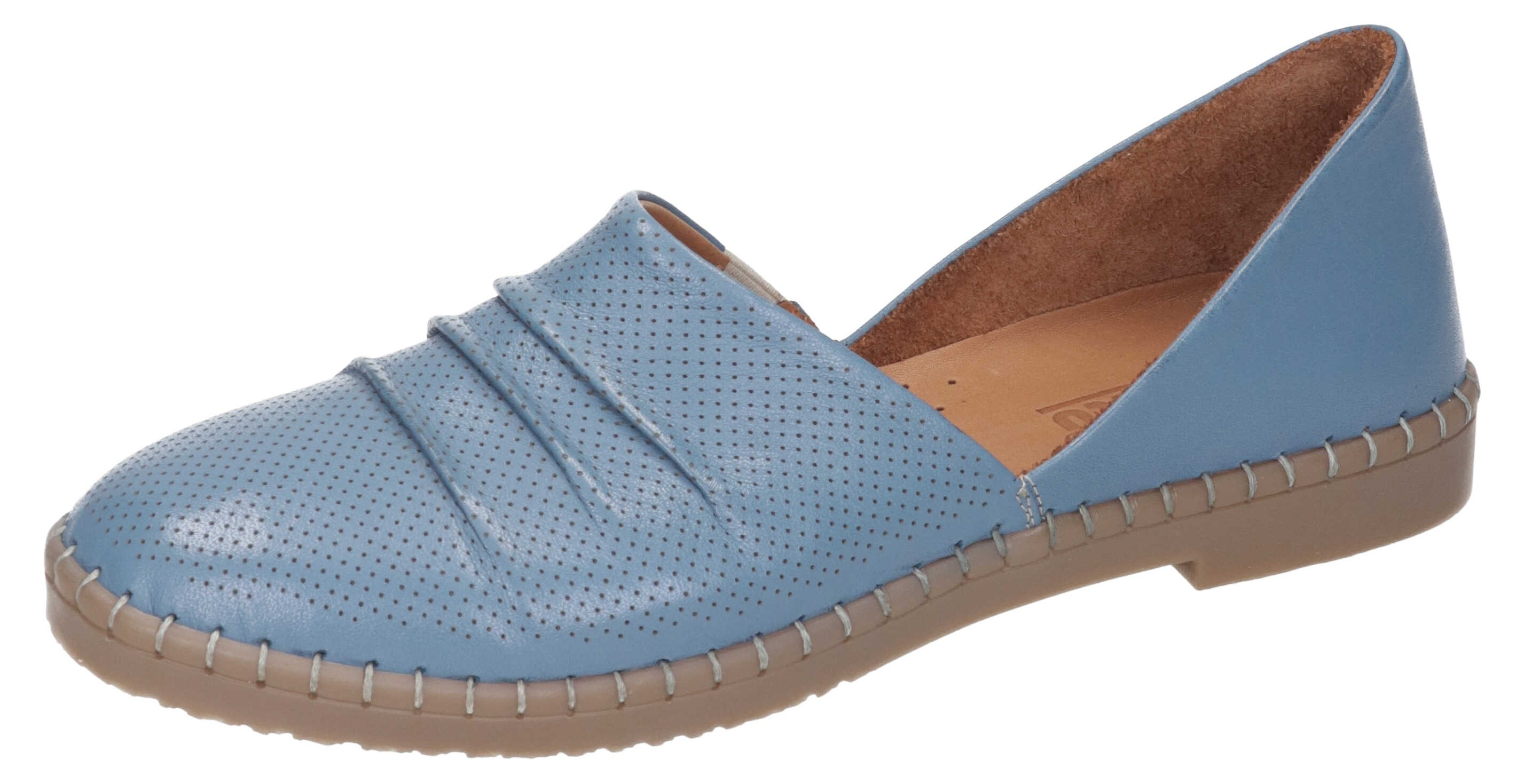 Manitu Damen Slipper blau