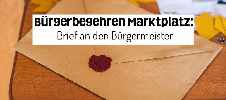 Bürgerbegehren Marktplatz Brief An Den Bürgermeister Dein Beckum